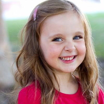 Toddler headshot natural smile