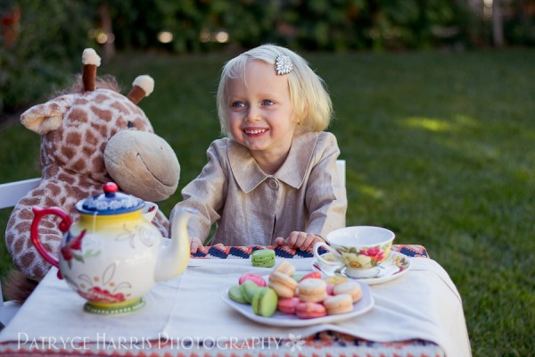 Little Girl Tea Party Themed Photoshoot