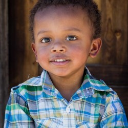 Smiling African American Toddler Boy Headshot 8x10