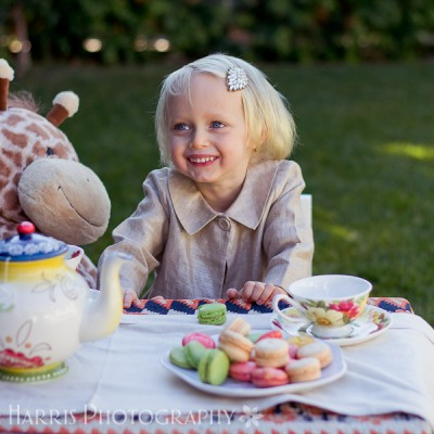 Little Girl Tea Party Themed Photoshoot