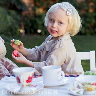 Little Girl Tea Party Themed Photoshoot Los Angeles